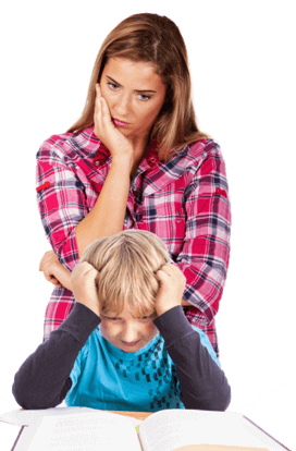 frustrated parent kid
